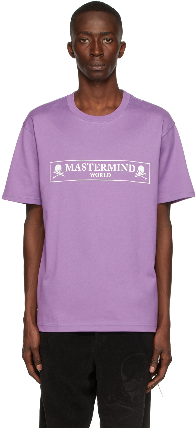 Purple Boxed Logo T-Shirt