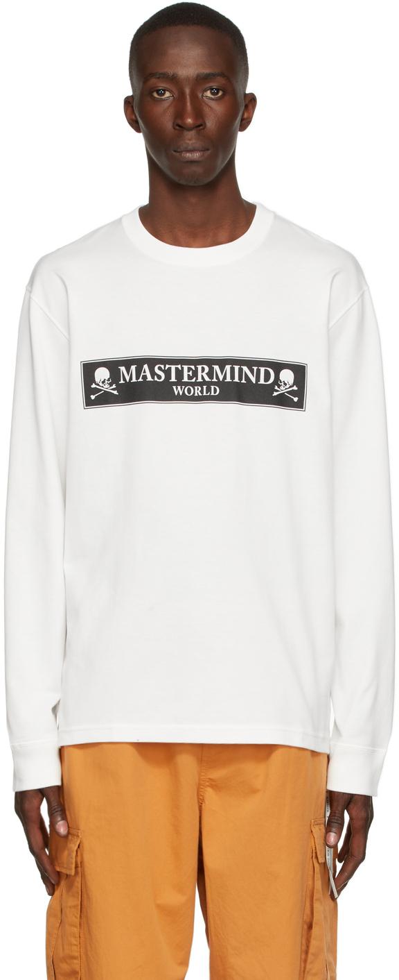 White Boxed Logo Long Sleeve T-Shirt