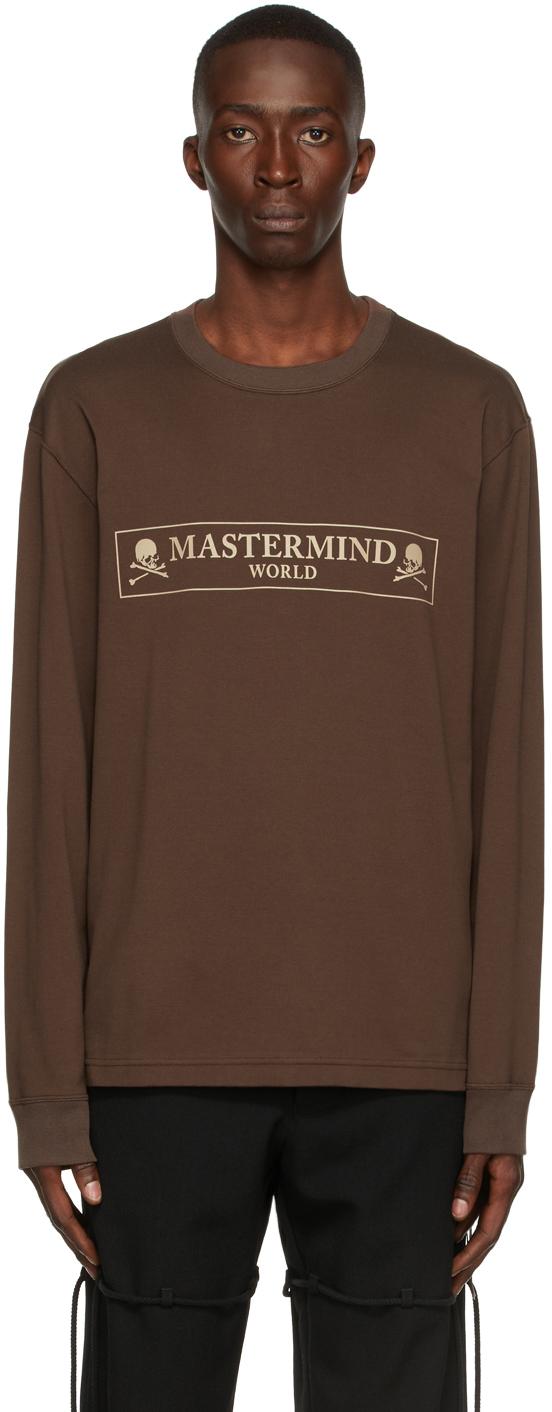 Brown Box Logo Long Sleeve T-Shirt