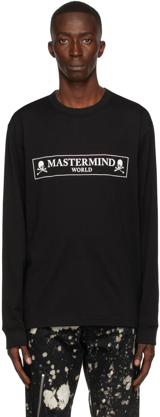 Black Boxed Logo Long Sleeve T-Shirt