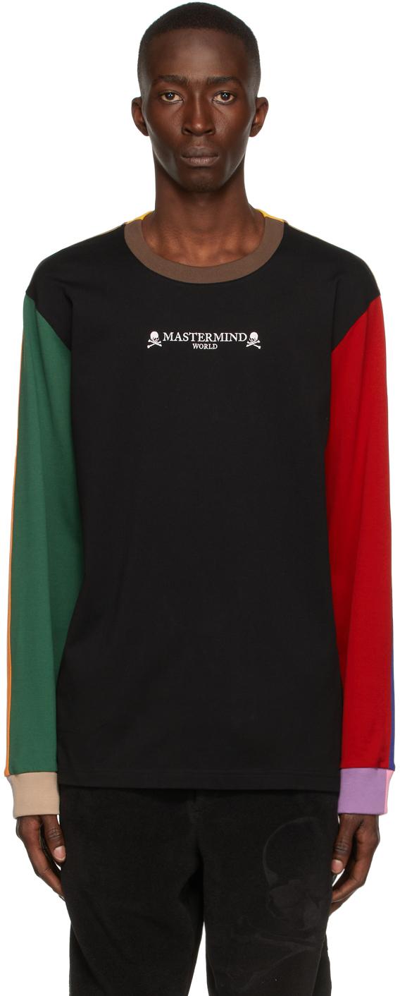 Multicolor Paneled Long Sleeve T-Shirt