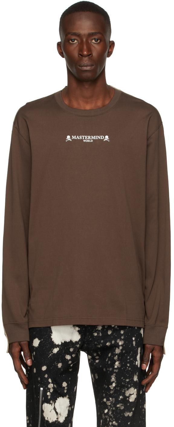 Brown & Beige 2 Color Long Sleeve T-Shirt