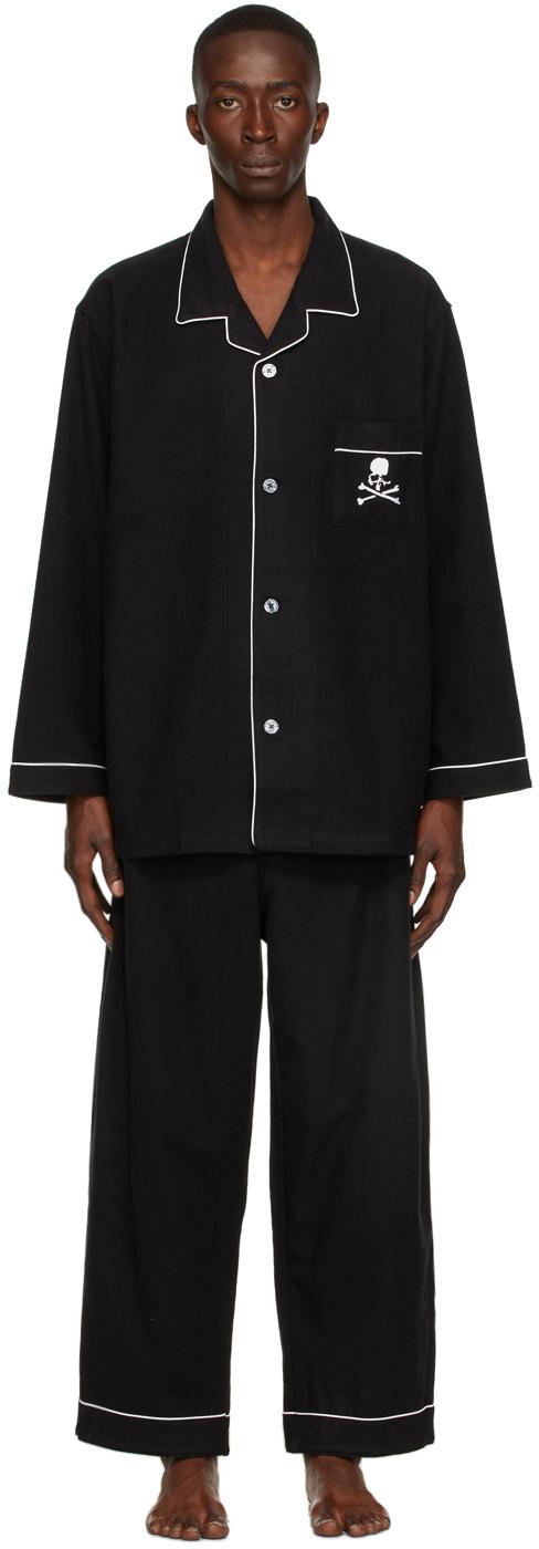 Black Cotton Pyjama Set