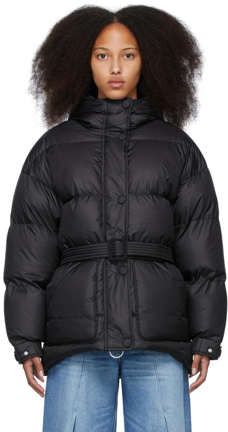 Black Down Satin Michlin Jacket