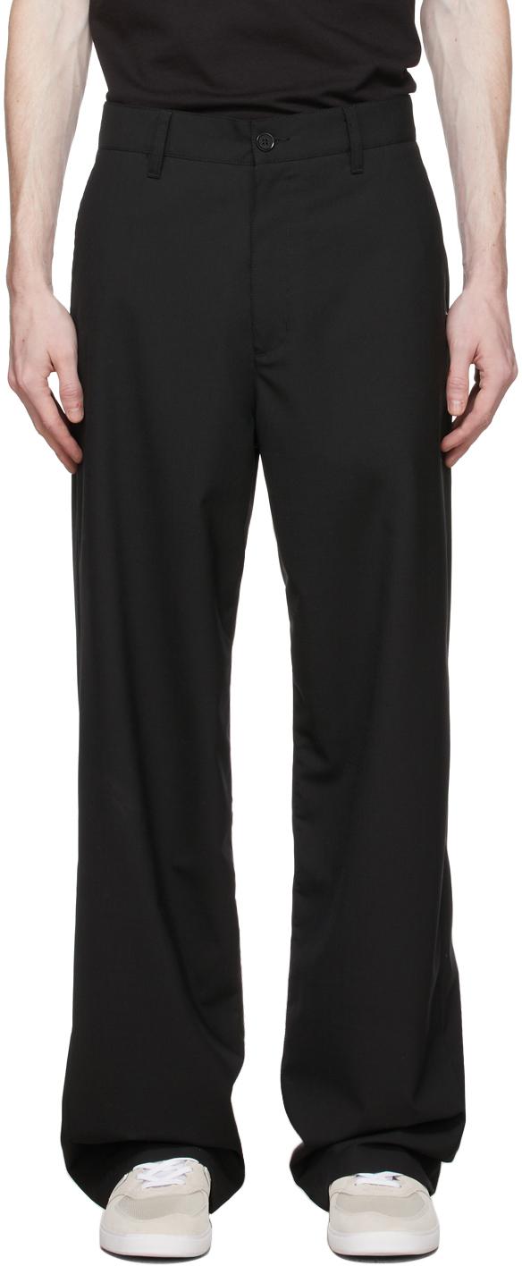 HOPE Black Wool Wind Trousers