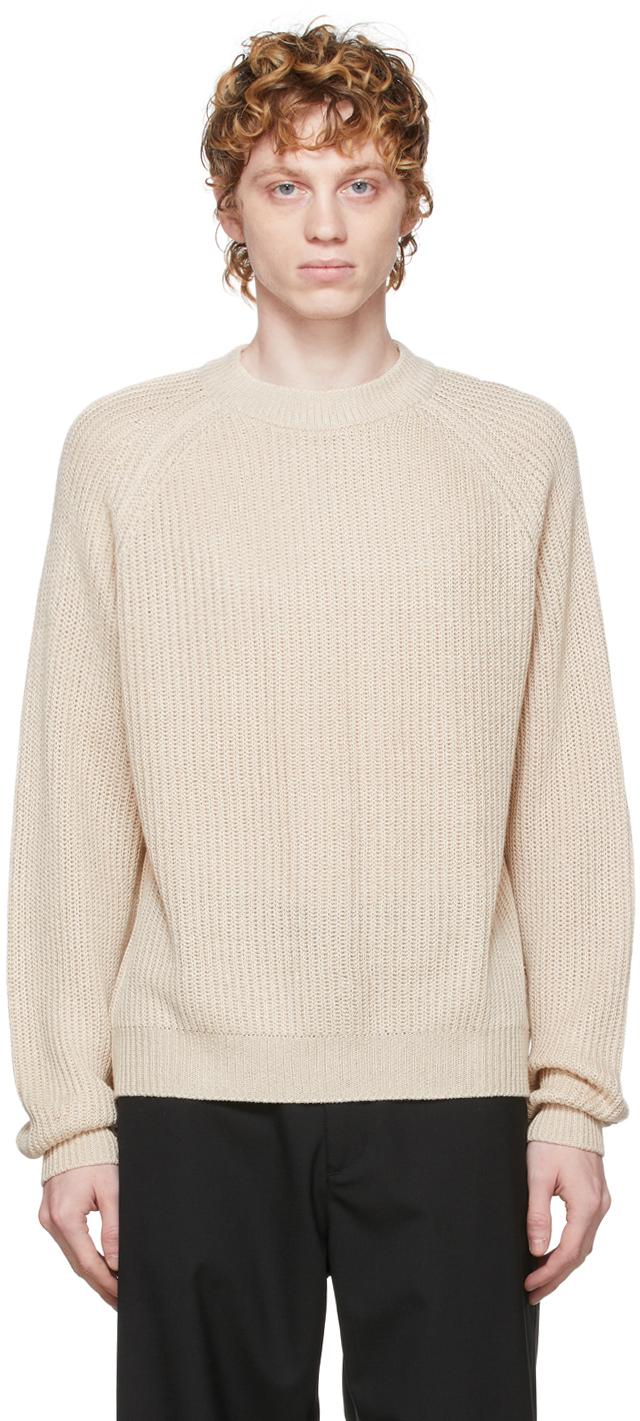 HOPE Beige Linen Burly Sweater