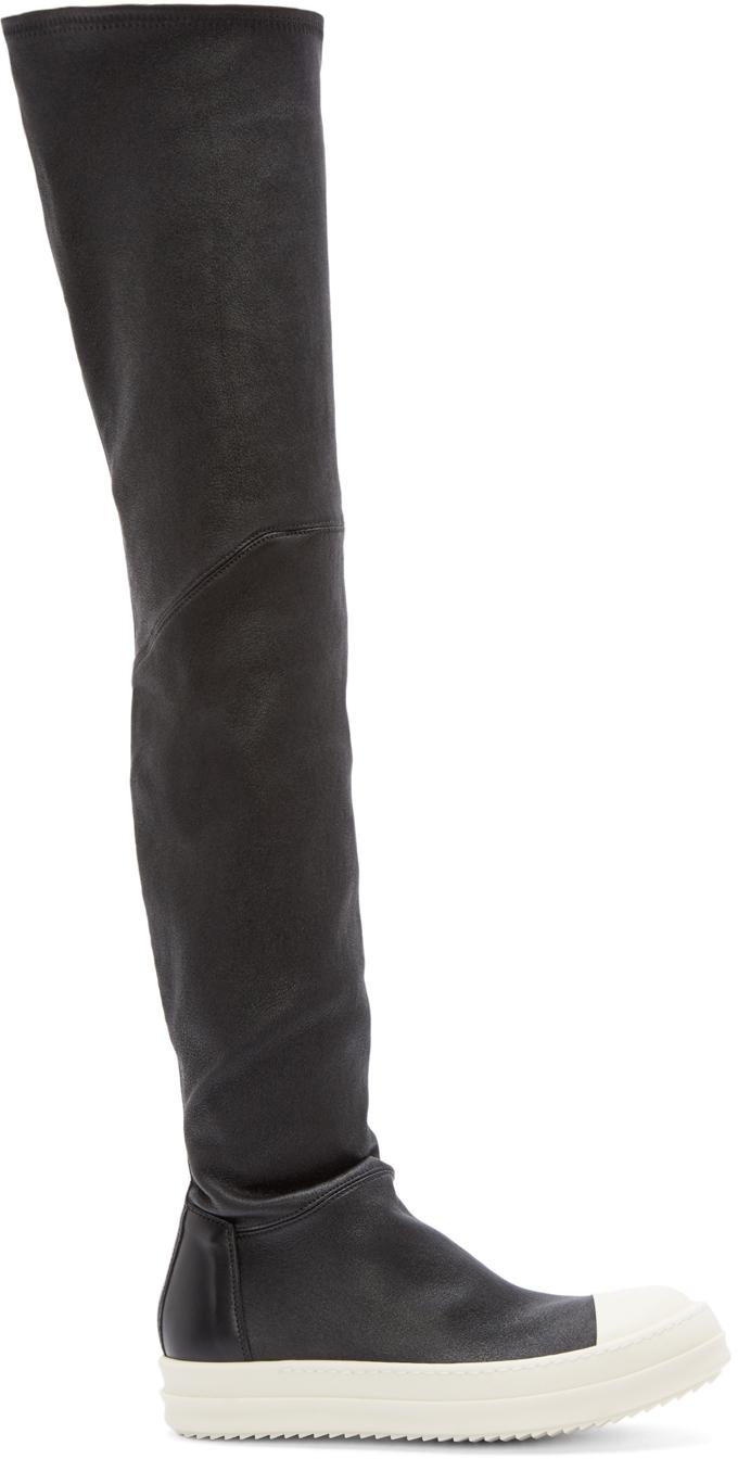 Rick Owens: Black Thigh-High Sock