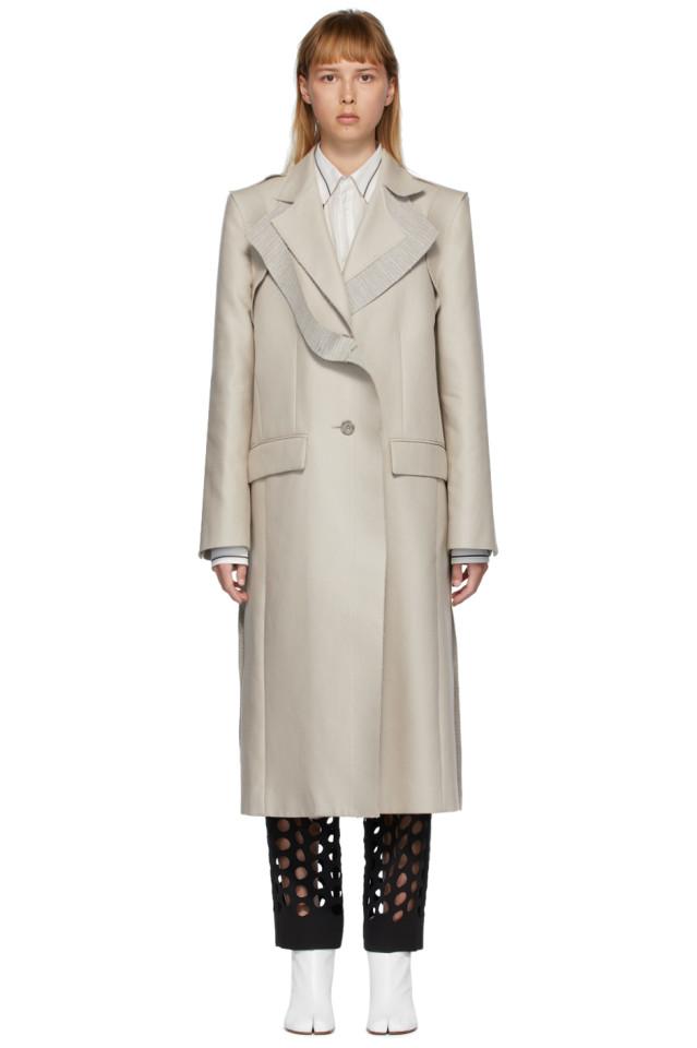 MAISON MARGIELA Beige Deconstructed Coat