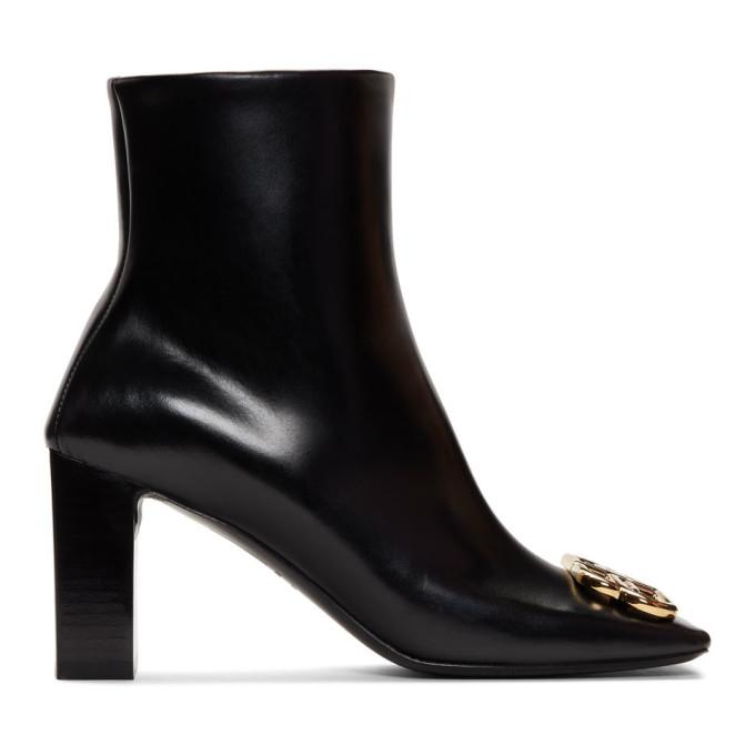 Black Square Bb Boots by Balenciaga