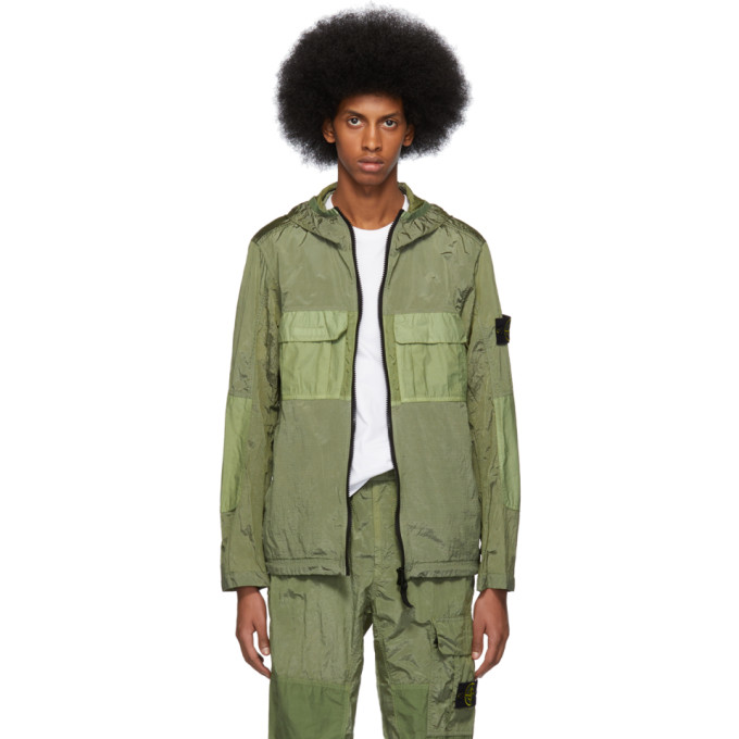 Green Metal Watro Ripstop Coat by Stone Island