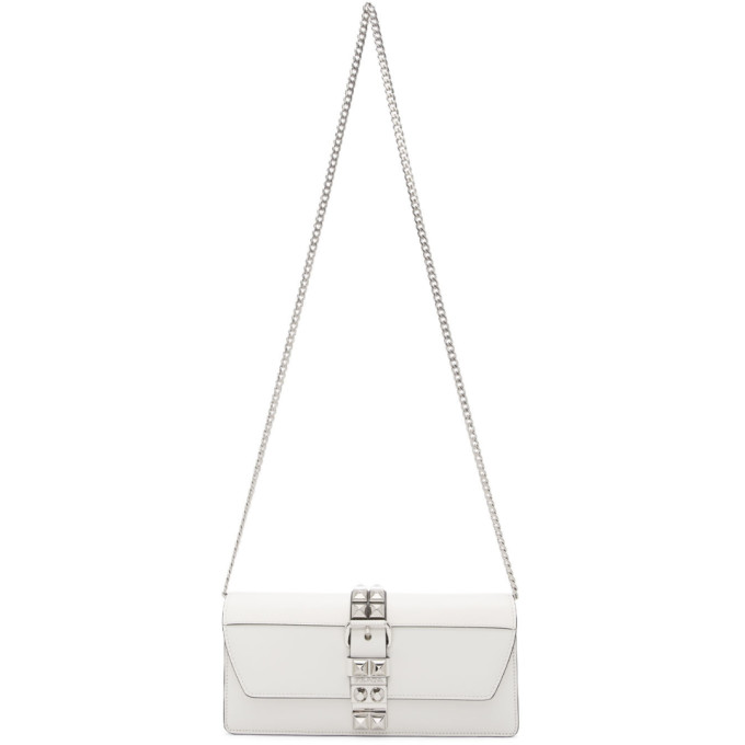 White Elektra Clutch by Prada