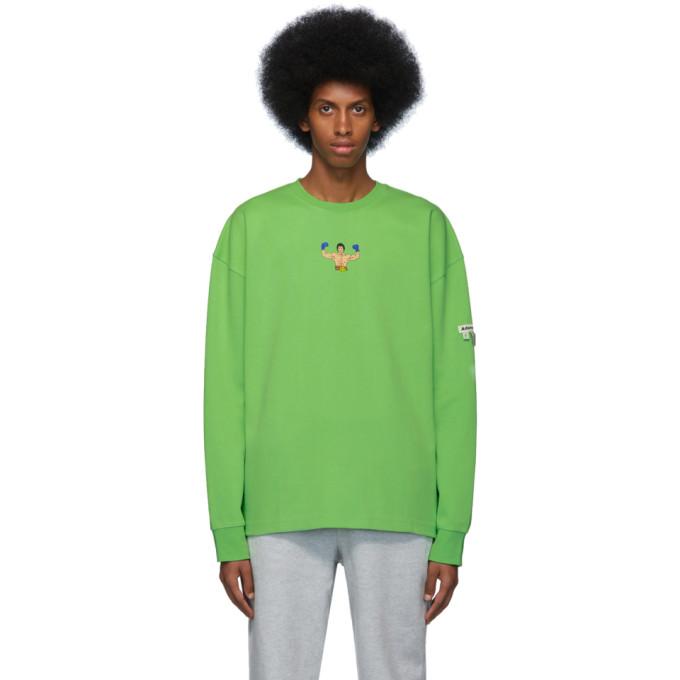 Green Scene Long Sleeve T Shirt by Ader Error