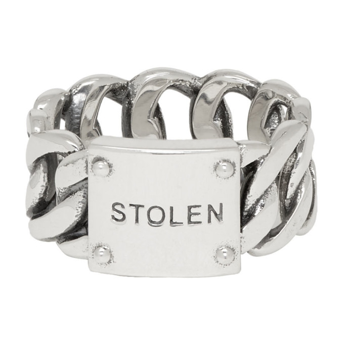 Silver Curb Wide Ring by Stolen Girlfriends Club