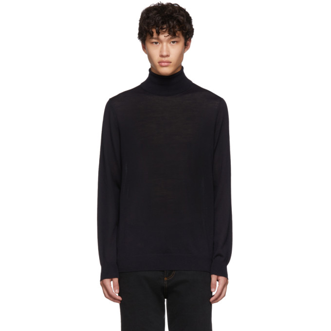 Navy Wool San Antonia Turtleneck by Hugo