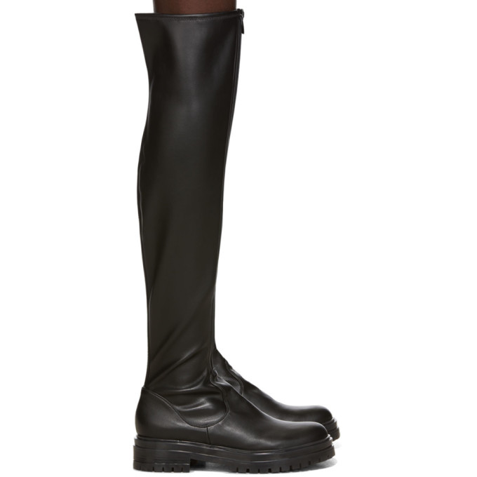 black-marsden-over-the-knee-boots by gianvito-rossi