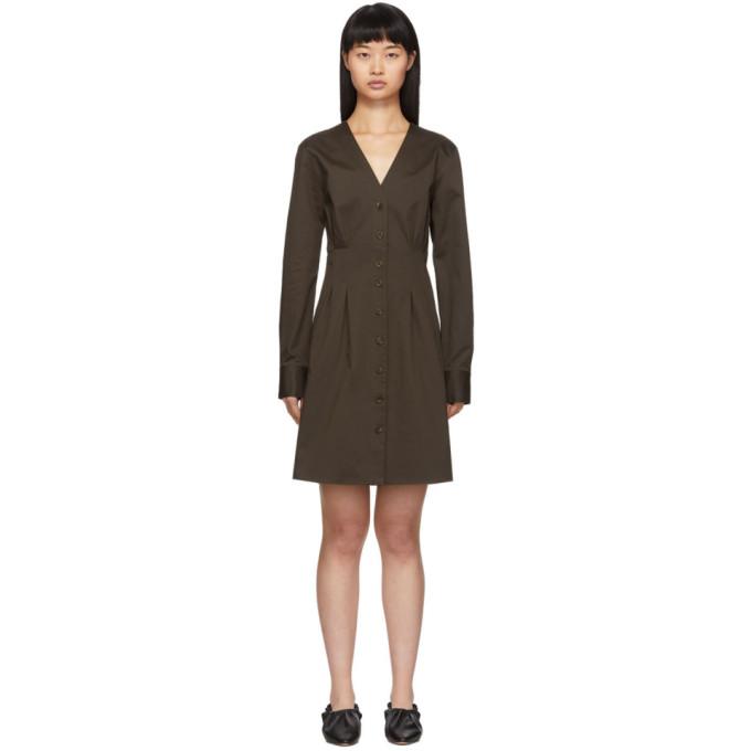 Brown Dominic Shirt Dress by Tibi