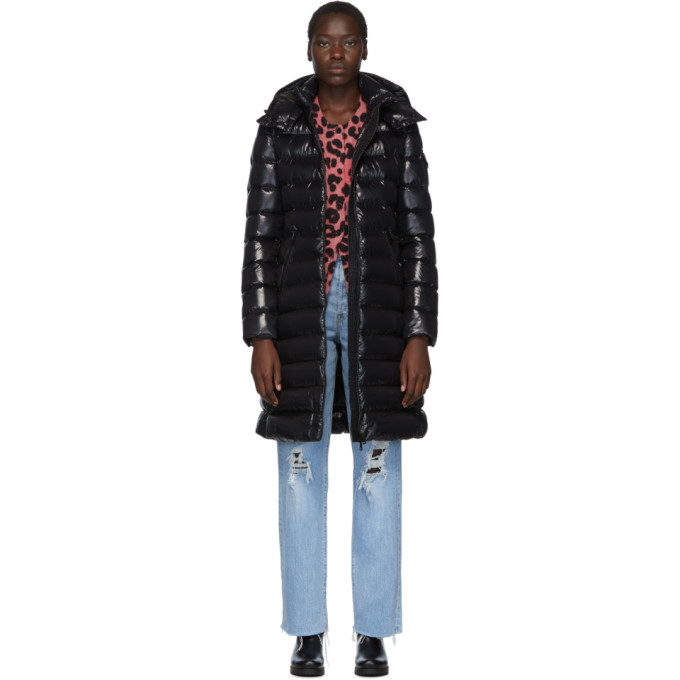 Black Down Moka Coat by Moncler