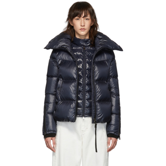 Navy Down Bandama Jacket by Moncler
