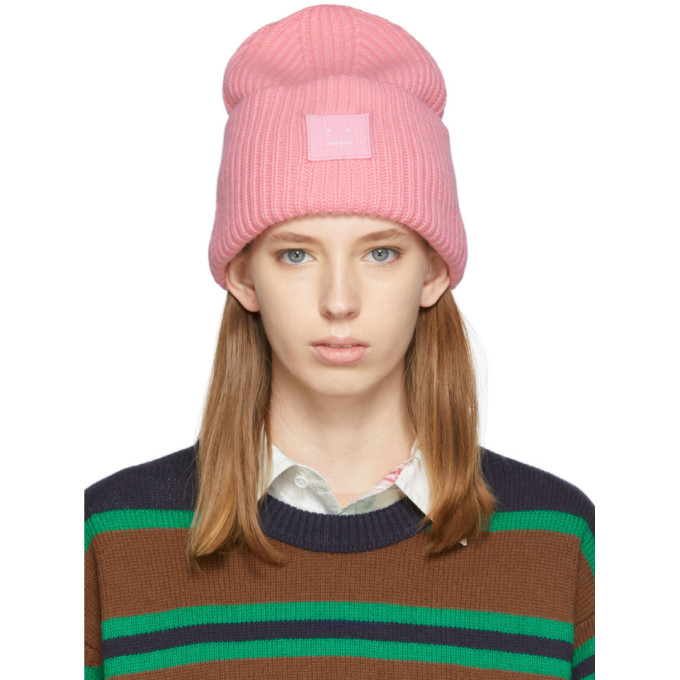 Pink Oversized Beanie by Acne Studios