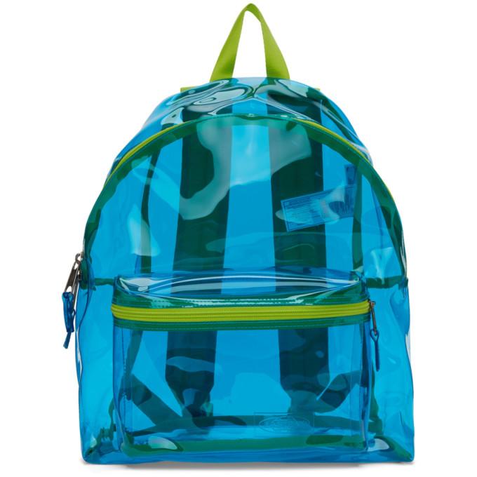Blue & Green Film Padded Pak'r Backpack by Eastpak