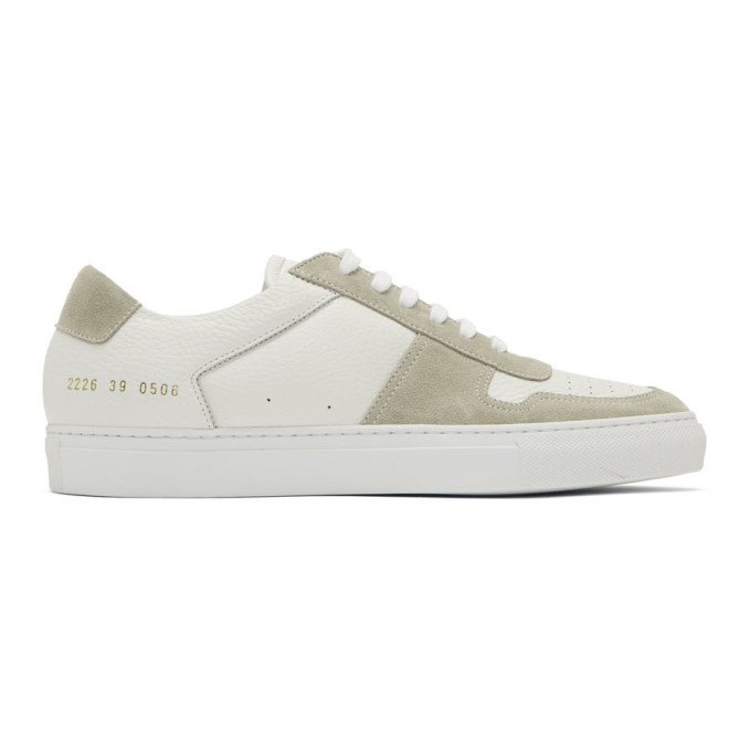 White B Ball Premium Low Sneakers by Common Projects