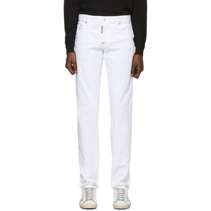 White Slim Jeans by Dsquared2