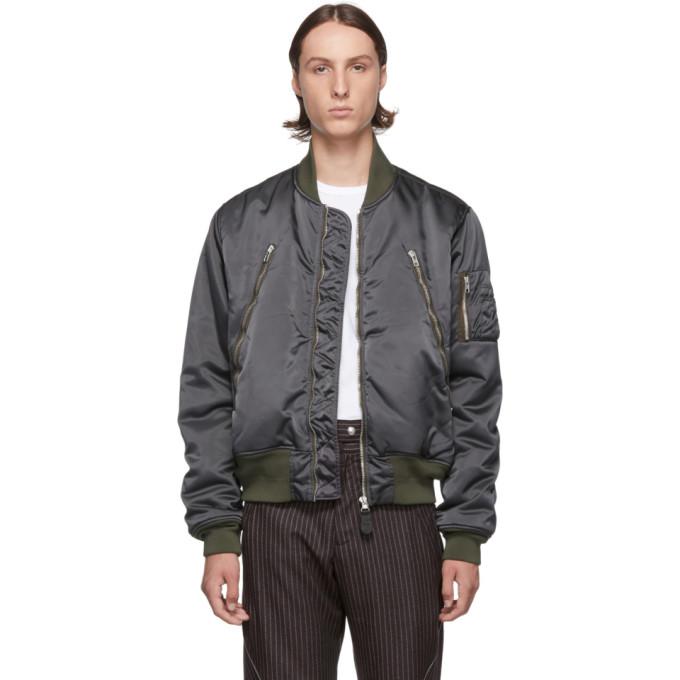 Grey Classic Bomber Jacket by Maison Margiela