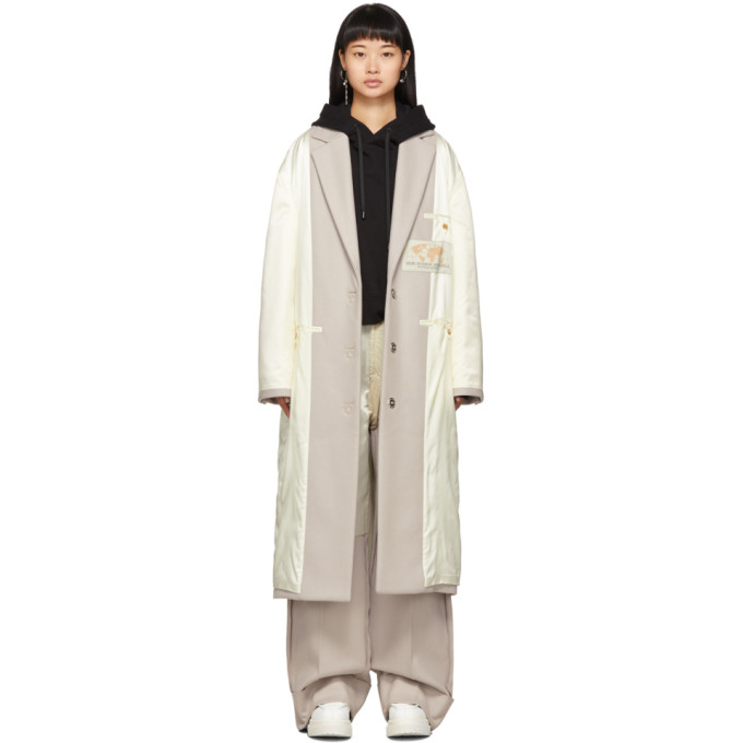 Off White Inside Out Coat by Mm6 Maison Margiela