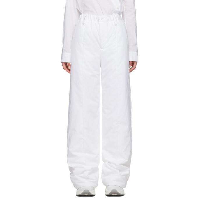 White Padded Trousers by Mm6 Maison Margiela