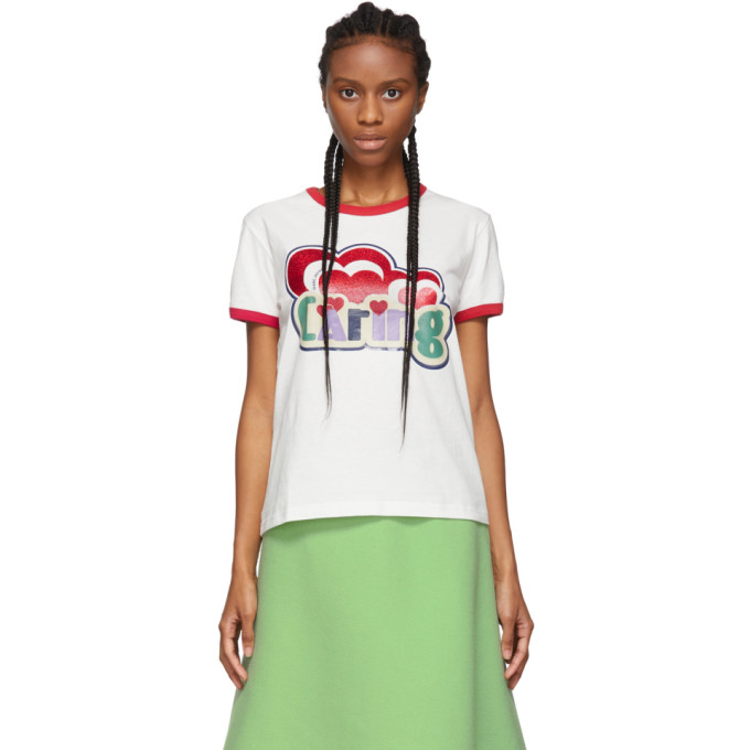 White Giving Ringer T Shirt by Marc Jacobs