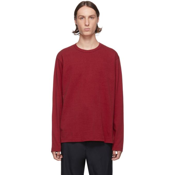 Red Jersey Long Sleeve T Shirt by Junya Watanabe