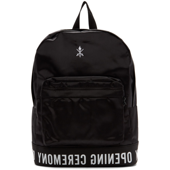 Black Logo Backpack by Opening Ceremony