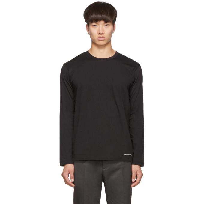 Black Logo Hem Long Sleeve T Shirt by Comme Des GarÇons Shirt