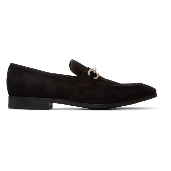 Black Suede Benford Loafers by Salvatore Ferragamo