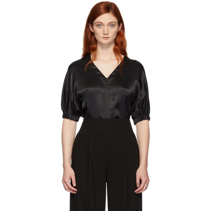 Black Puff Sleeve Blouse by 3.1 Phillip Lim