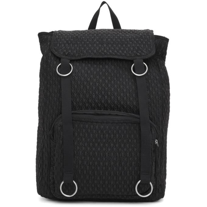 Black Eastpak Edition Padded Loop Top Load Backpack by Raf Simons