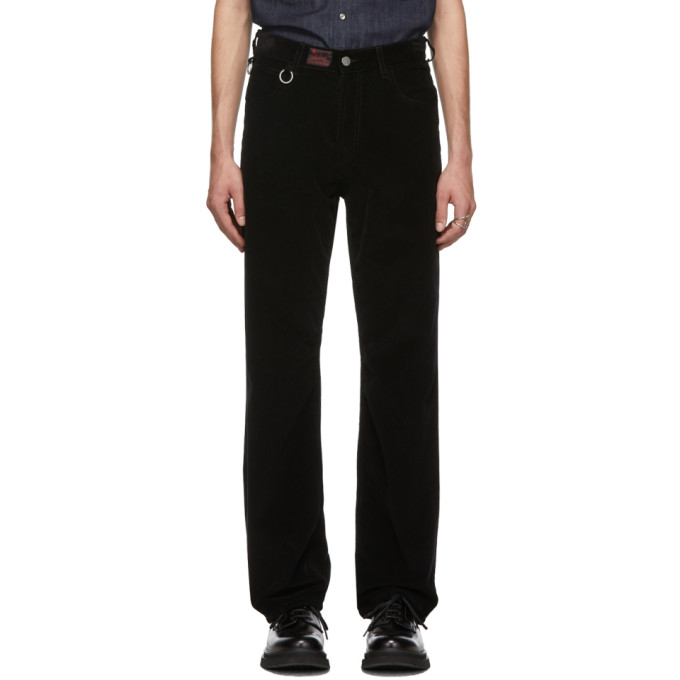 Black Heroes & Losers Relaxed Fit Trousers by Raf Simons