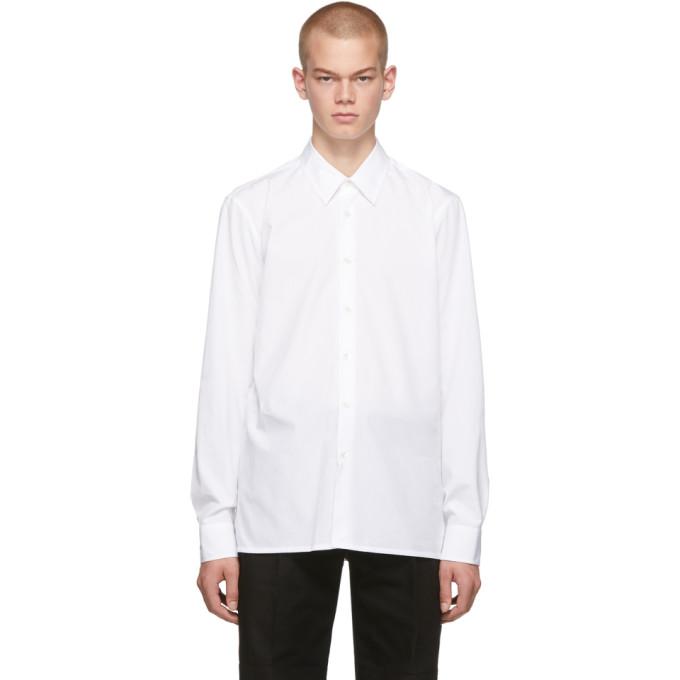 White Logo Slim Fit Shirt by Raf Simons
