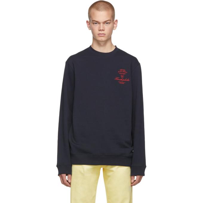 Navy 'xanthophobic' Sweatshirt by Raf Simons