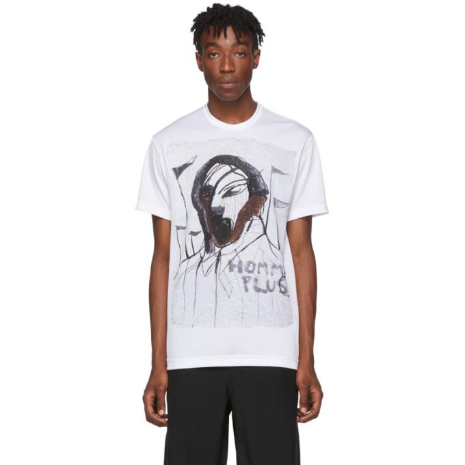 White Face C Print T Shirt by Comme Des GarÇons Homme Plus