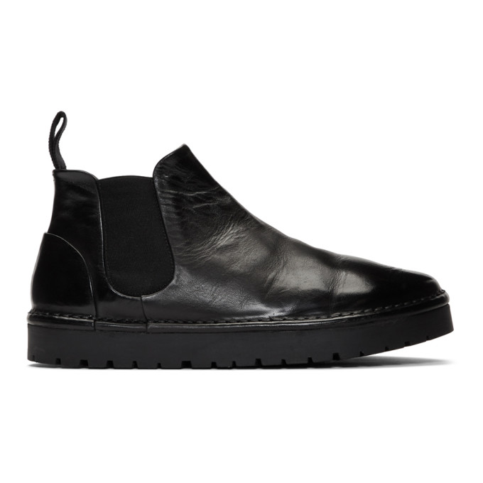 Black Gomme Sancrispa Alta Beatles Chelsea Boots by MarsÈll