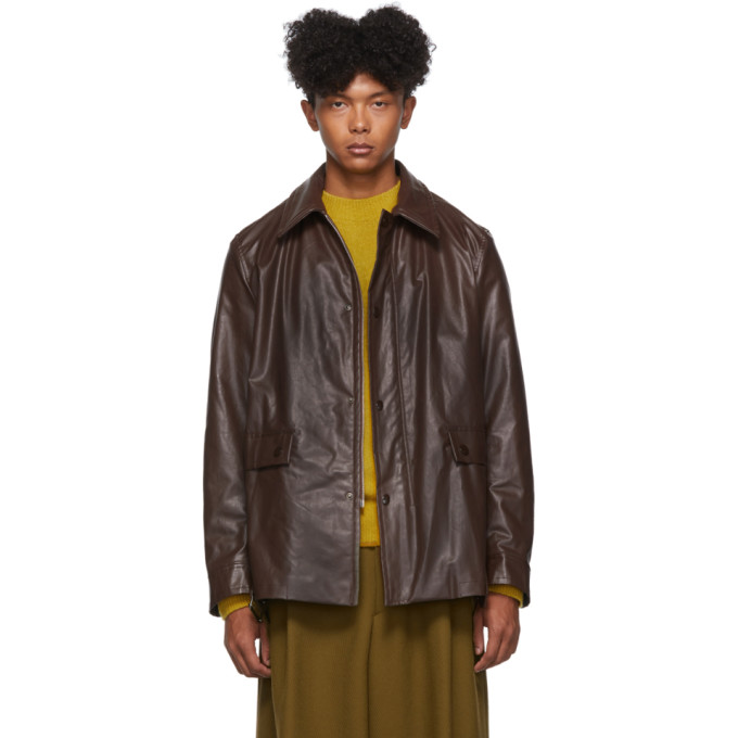 Brown Vencke Jacket by Dries Van Noten