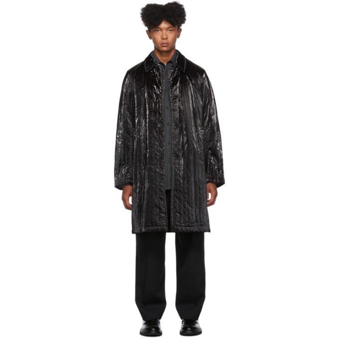 Black Roal Coat by Dries Van Noten