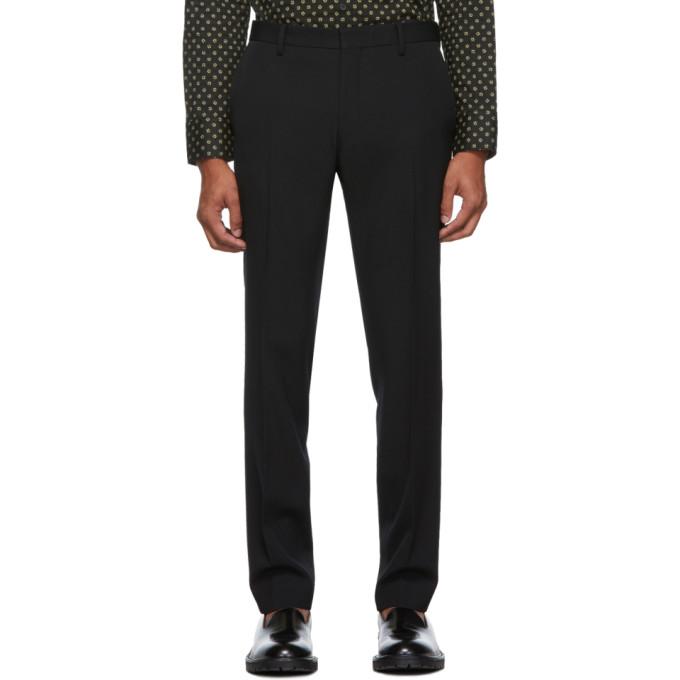Black Patrini Trousers by Dries Van Noten