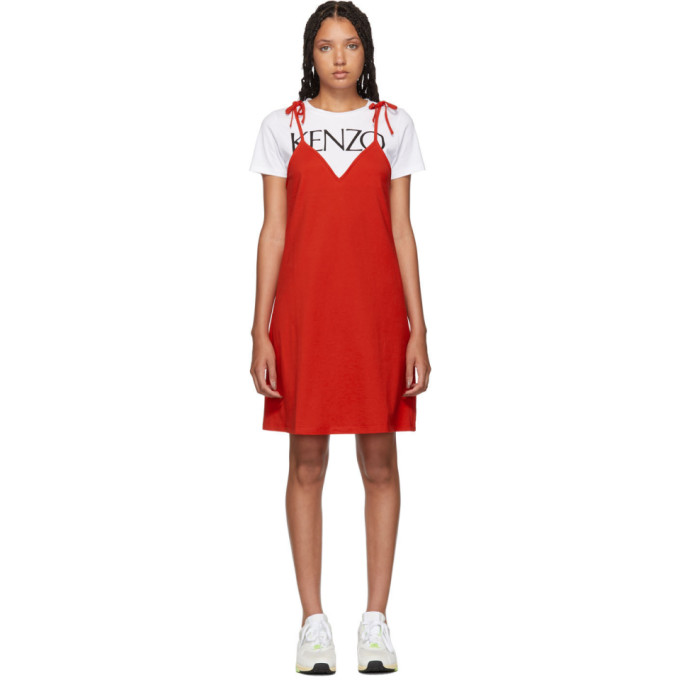 Red T Shirt Mini Dress by Kenzo