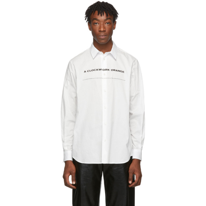 White A Clockwork Orange Edition Print Shirt by Undercover