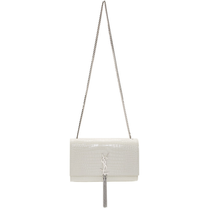 Off White Medium Kate Tassel Bag by Saint Laurent
