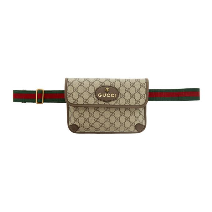 Beige Gg Supreme Neo Vintage Belt Bag by Gucci