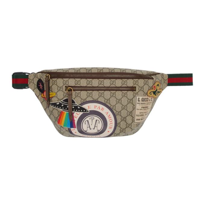 Beige Gg Supreme Courier Belt Bag by Gucci