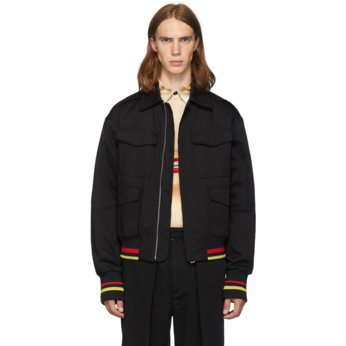 Black Quilted Bomber Jacket by Jw Anderson